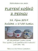 Pletení košíků z pedigu - ZŠ Chlumčany - 18. října od 17:00 hodin.