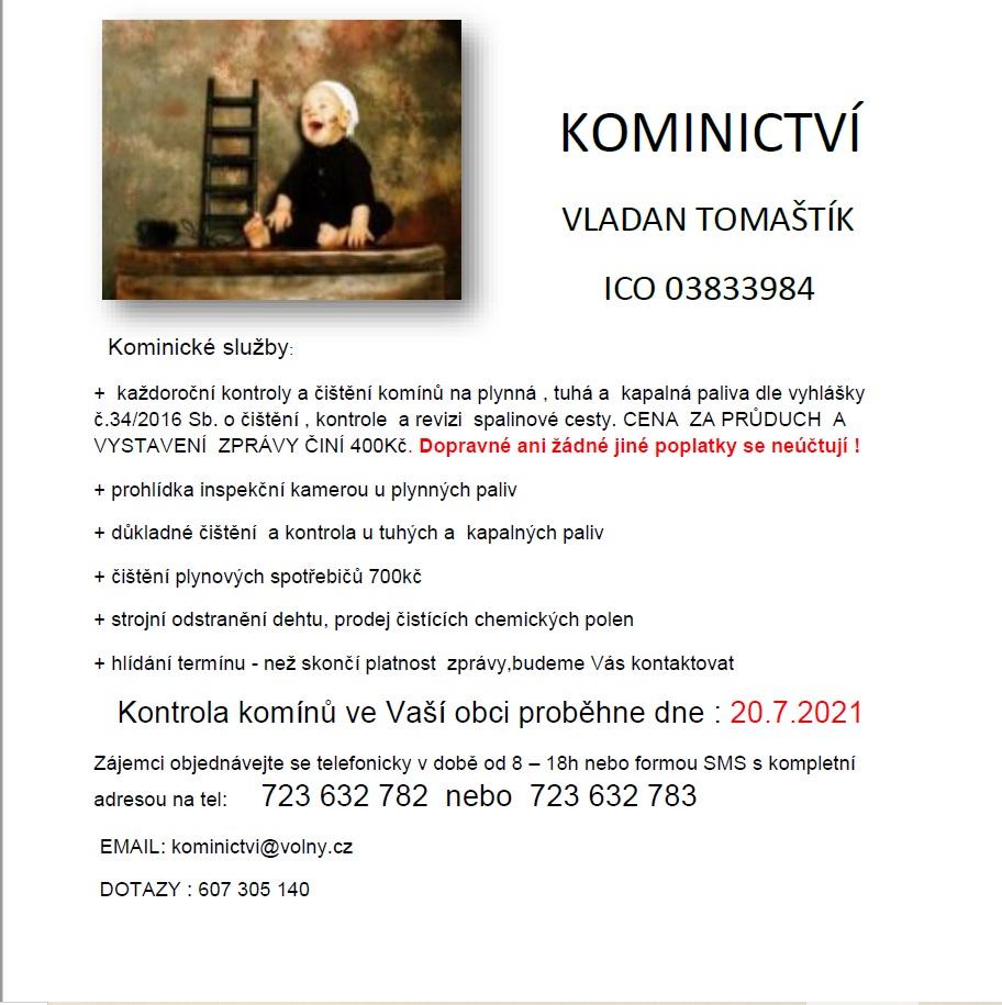 Kominictví Vladan Tomaštík